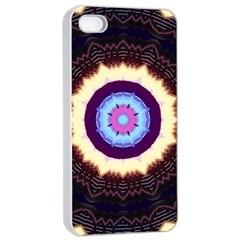 Mandala Art Design Pattern Apple Iphone 4/4s Seamless Case (white) by BangZart