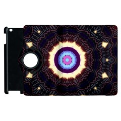 Mandala Art Design Pattern Apple Ipad 2 Flip 360 Case by BangZart
