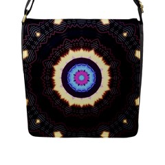 Mandala Art Design Pattern Flap Messenger Bag (l)  by BangZart