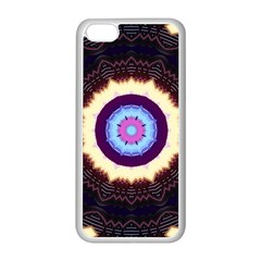 Mandala Art Design Pattern Apple Iphone 5c Seamless Case (white)