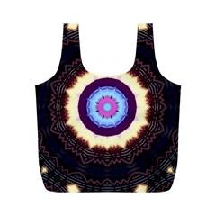 Mandala Art Design Pattern Full Print Recycle Bags (m)