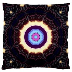 Mandala Art Design Pattern Large Flano Cushion Case (two Sides) by BangZart
