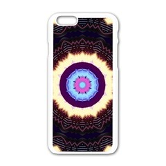 Mandala Art Design Pattern Apple Iphone 6/6s White Enamel Case by BangZart