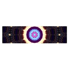 Mandala Art Design Pattern Satin Scarf (oblong) by BangZart