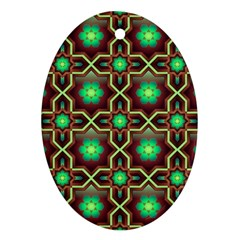 Pattern Background Bright Brown Ornament (oval)
