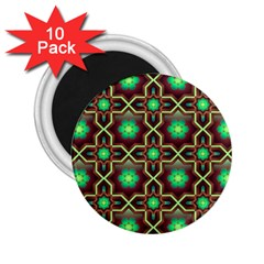Pattern Background Bright Brown 2 25  Magnets (10 Pack)