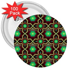 Pattern Background Bright Brown 3  Buttons (100 Pack)