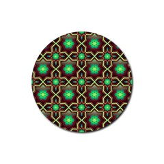 Pattern Background Bright Brown Rubber Coaster (round)  by BangZart