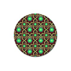 Pattern Background Bright Brown Magnet 3  (round) by BangZart