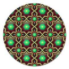 Pattern Background Bright Brown Magnet 5  (round) by BangZart