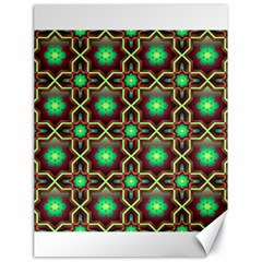 Pattern Background Bright Brown Canvas 18  X 24   by BangZart