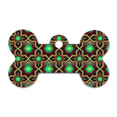 Pattern Background Bright Brown Dog Tag Bone (two Sides)