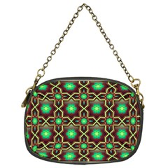 Pattern Background Bright Brown Chain Purses (one Side)