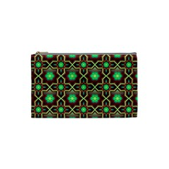 Pattern Background Bright Brown Cosmetic Bag (small)  by BangZart