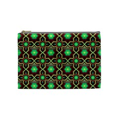 Pattern Background Bright Brown Cosmetic Bag (medium)  by BangZart