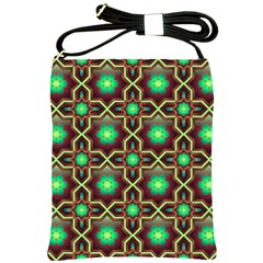 Pattern Background Bright Brown Shoulder Sling Bags by BangZart