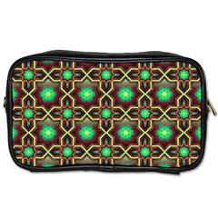 Pattern Background Bright Brown Toiletries Bags 2 Side by BangZart