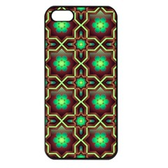 Pattern Background Bright Brown Apple Iphone 5 Seamless Case (black)