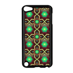 Pattern Background Bright Brown Apple Ipod Touch 5 Case (black)