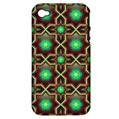 Pattern Background Bright Brown Apple Iphone 4/4s Hardshell Case (pc+silicone) by BangZart