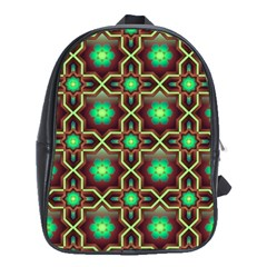 Pattern Background Bright Brown School Bags (xl)  by BangZart