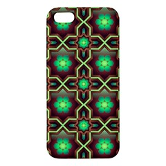 Pattern Background Bright Brown Apple Iphone 5 Premium Hardshell Case by BangZart
