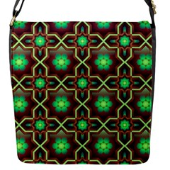 Pattern Background Bright Brown Flap Messenger Bag (s)
