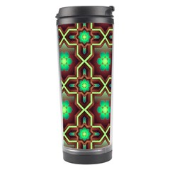 Pattern Background Bright Brown Travel Tumbler by BangZart