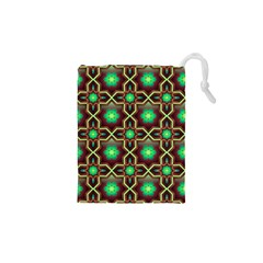 Pattern Background Bright Brown Drawstring Pouches (xs)