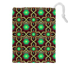 Pattern Background Bright Brown Drawstring Pouches (xxl) by BangZart