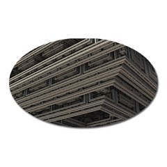 Fractal 3d Construction Industry Oval Magnet by BangZart