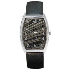 Fractal 3d Construction Industry Barrel Style Metal Watch by BangZart