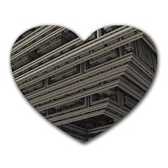 Fractal 3d Construction Industry Heart Mousepads by BangZart