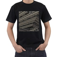 Fractal 3d Construction Industry Men s T Shirt (black)