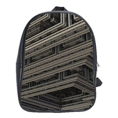 Fractal 3d Construction Industry School Bags(large)  by BangZart