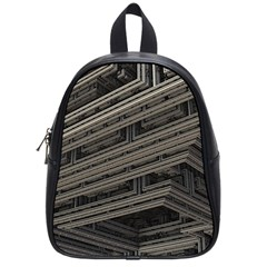 Fractal 3d Construction Industry School Bags (small)