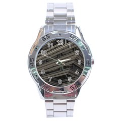 Fractal 3d Construction Industry Stainless Steel Analogue Watch by BangZart