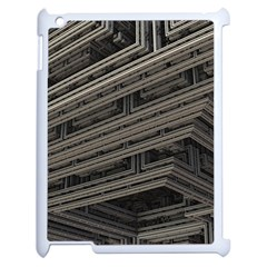 Fractal 3d Construction Industry Apple Ipad 2 Case (white) by BangZart