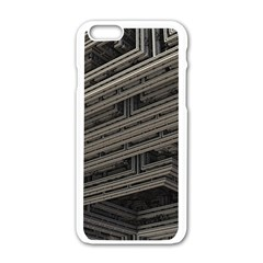 Fractal 3d Construction Industry Apple Iphone 6/6s White Enamel Case by BangZart