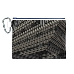 Fractal 3d Construction Industry Canvas Cosmetic Bag (l) by BangZart