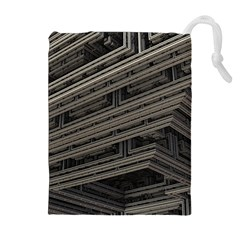 Fractal 3d Construction Industry Drawstring Pouches (extra Large)