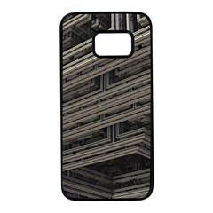 Fractal 3d Construction Industry Samsung Galaxy S7 Black Seamless Case