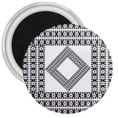 Pattern Background Texture Black 3  Magnets by BangZart