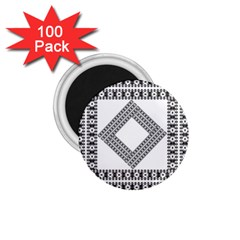 Pattern Background Texture Black 1 75  Magnets (100 Pack)