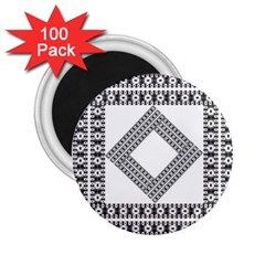 Pattern Background Texture Black 2 25  Magnets (100 Pack)  by BangZart