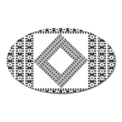 Pattern Background Texture Black Oval Magnet