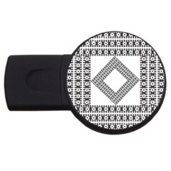 Pattern Background Texture Black Usb Flash Drive Round (2 Gb) by BangZart