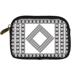 Pattern Background Texture Black Digital Camera Cases by BangZart
