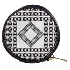 Pattern Background Texture Black Mini Makeup Bags