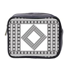 Pattern Background Texture Black Mini Toiletries Bag 2 Side by BangZart